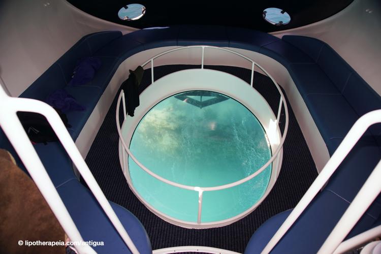 The Sea Escape glass bottom,Antigua