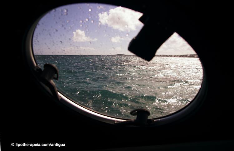 Sea view from the Sea Escape hydrofoil, Antigua