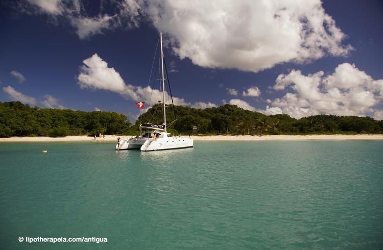 Catamaran at Deep bay, Antigua