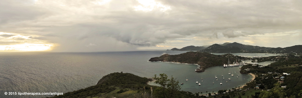 Panoramic photo from Shirley Heights, Antigua. Click on the image for enlarged version.