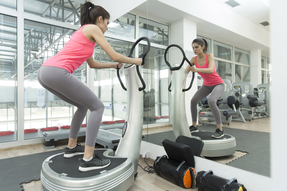 Vibration plate squats and cellulite