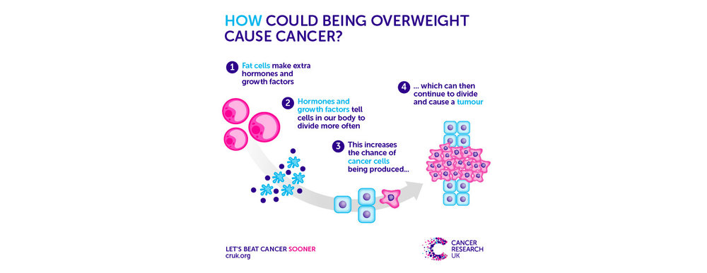 How could being overweight cause cancer