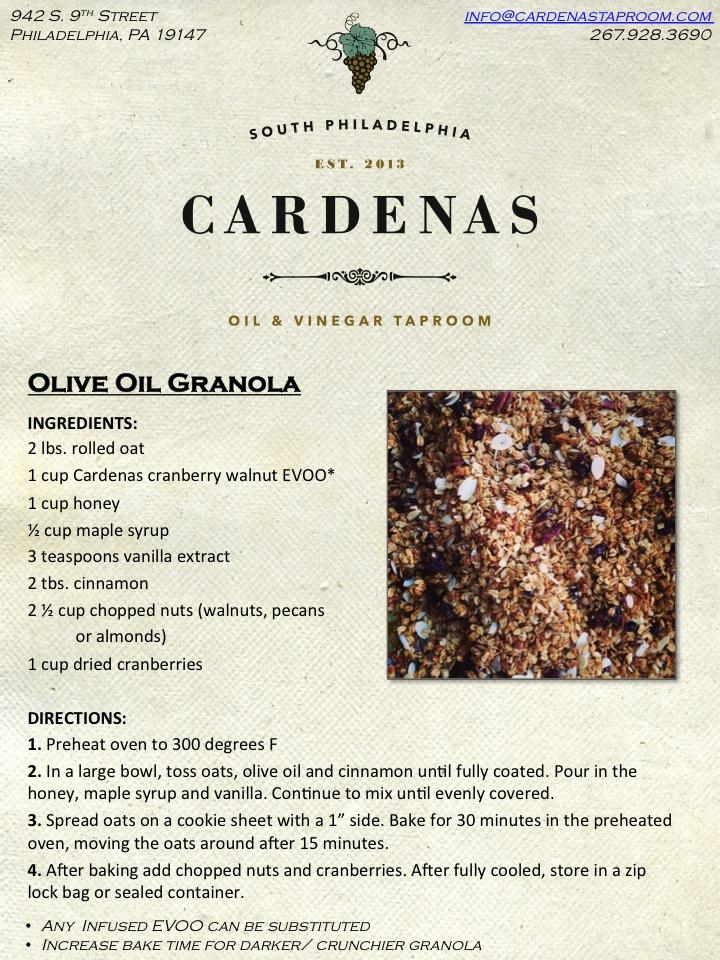 Olive Oil Granola Recipe