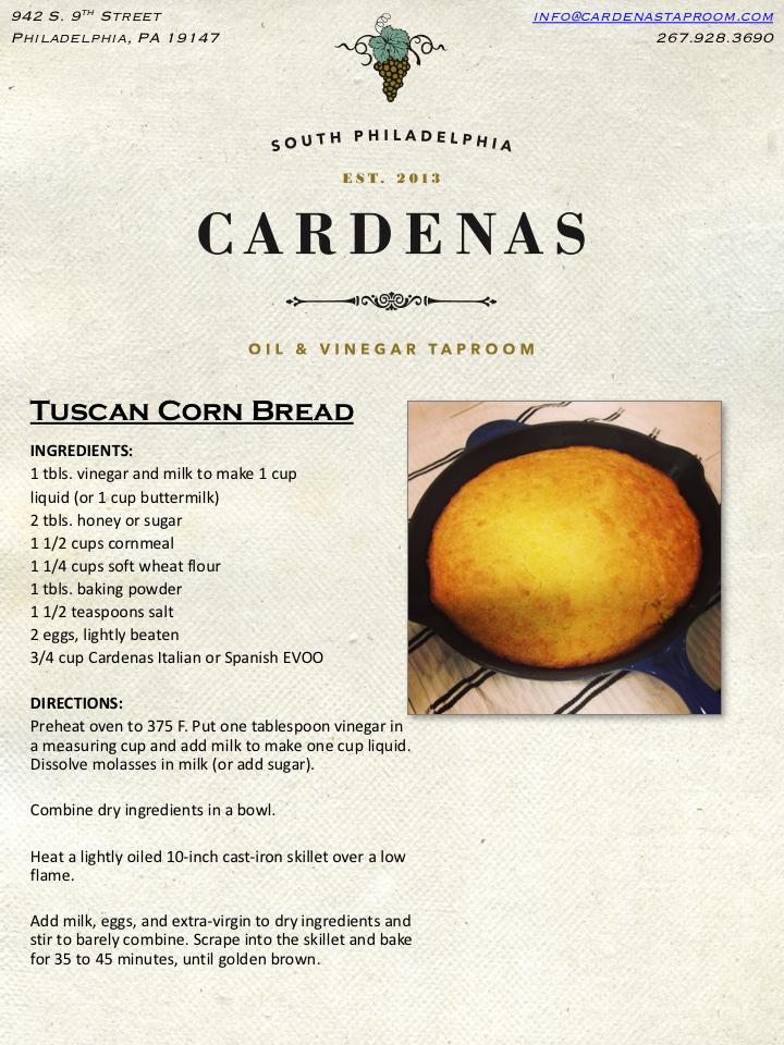 Tuscan Corn Bread