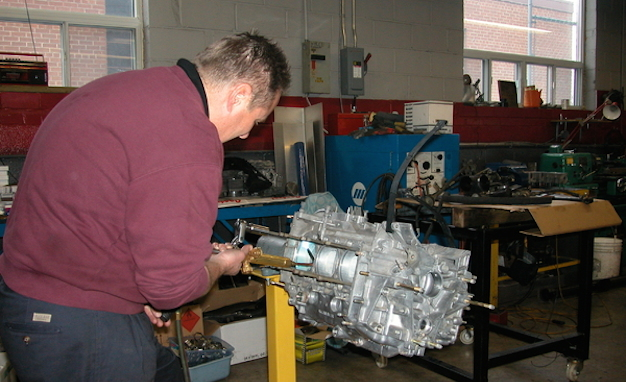 Lloyds at work on a 3.6-liter air-cooled engine destined for a 1981 930.