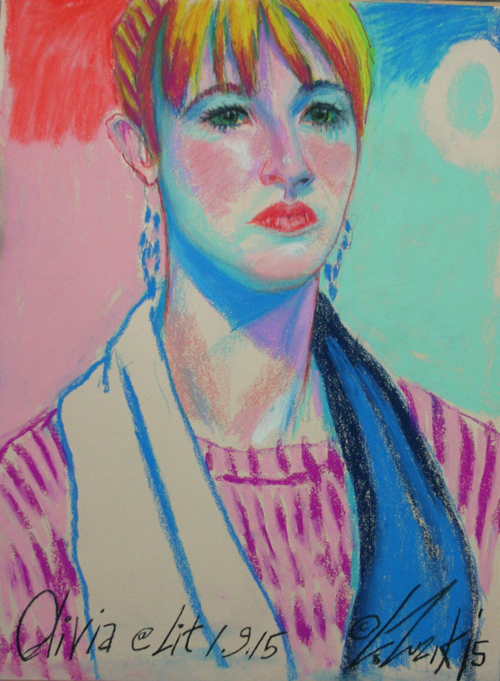 Larry Zuzik - 3-hour pastel drawing.