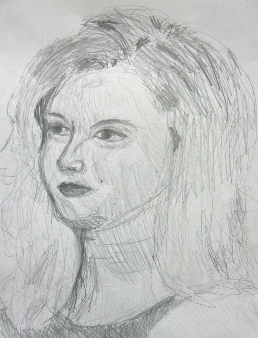 Abigail Murray did this 45 minute drawing.