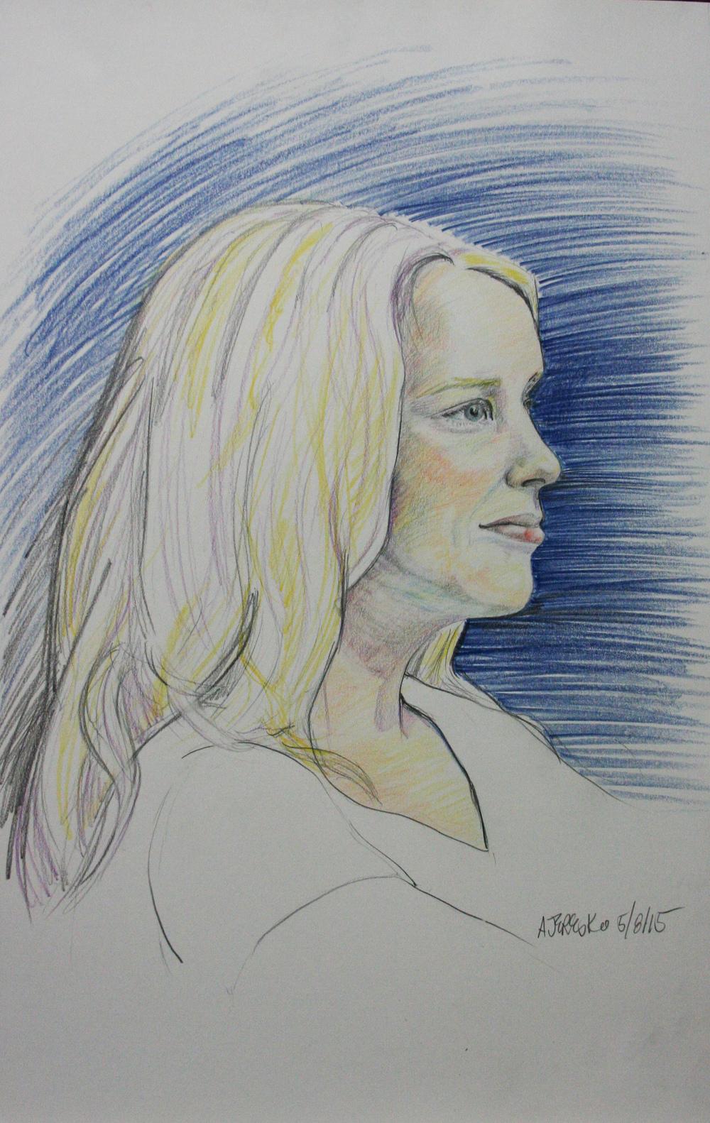 Alice Jeresko did this 2-hour drawing.