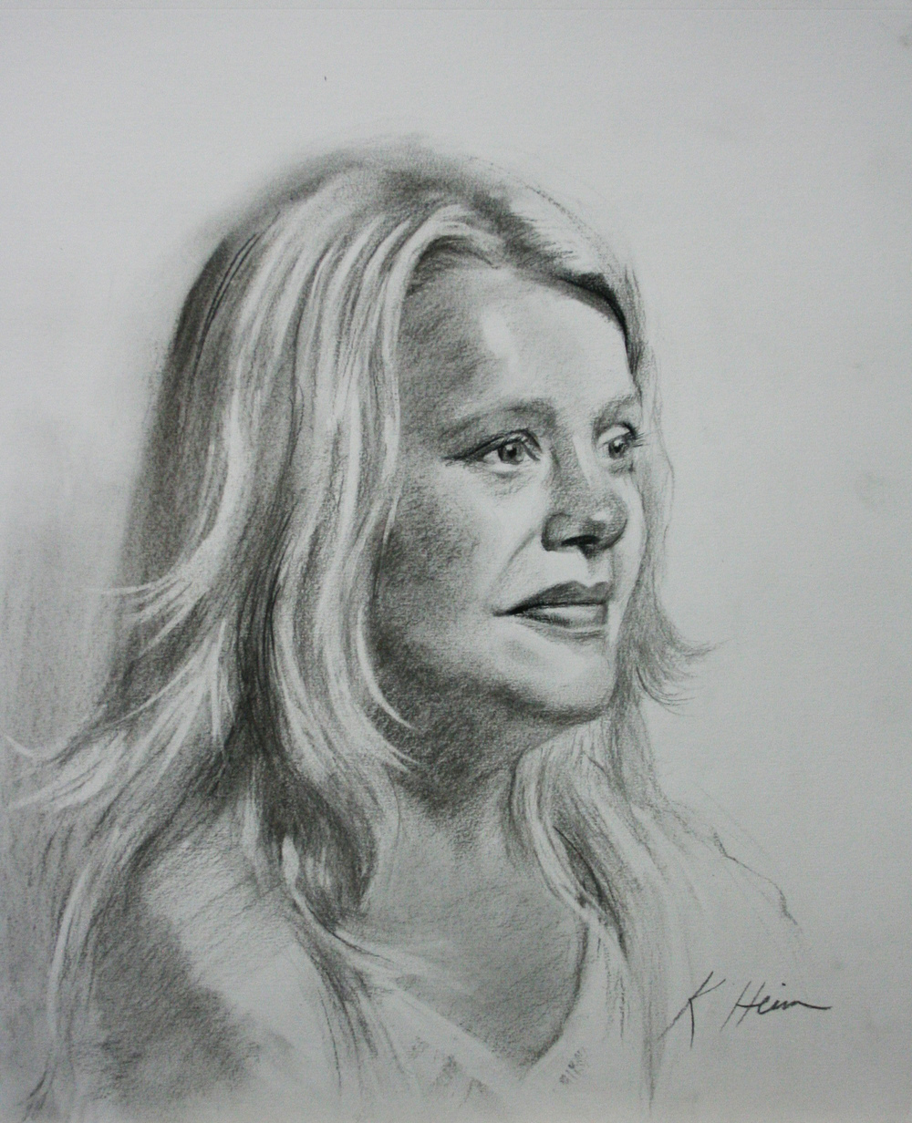 Christine Ripley did this 3-hour drawing.