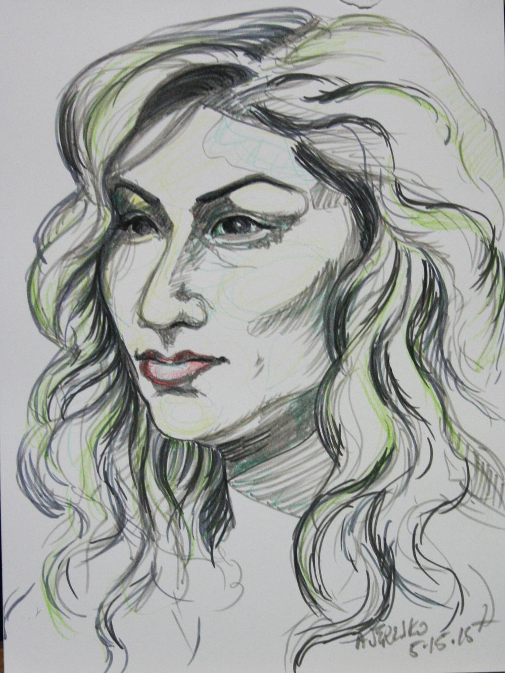 Alice Jeresko did this half hour sketch.