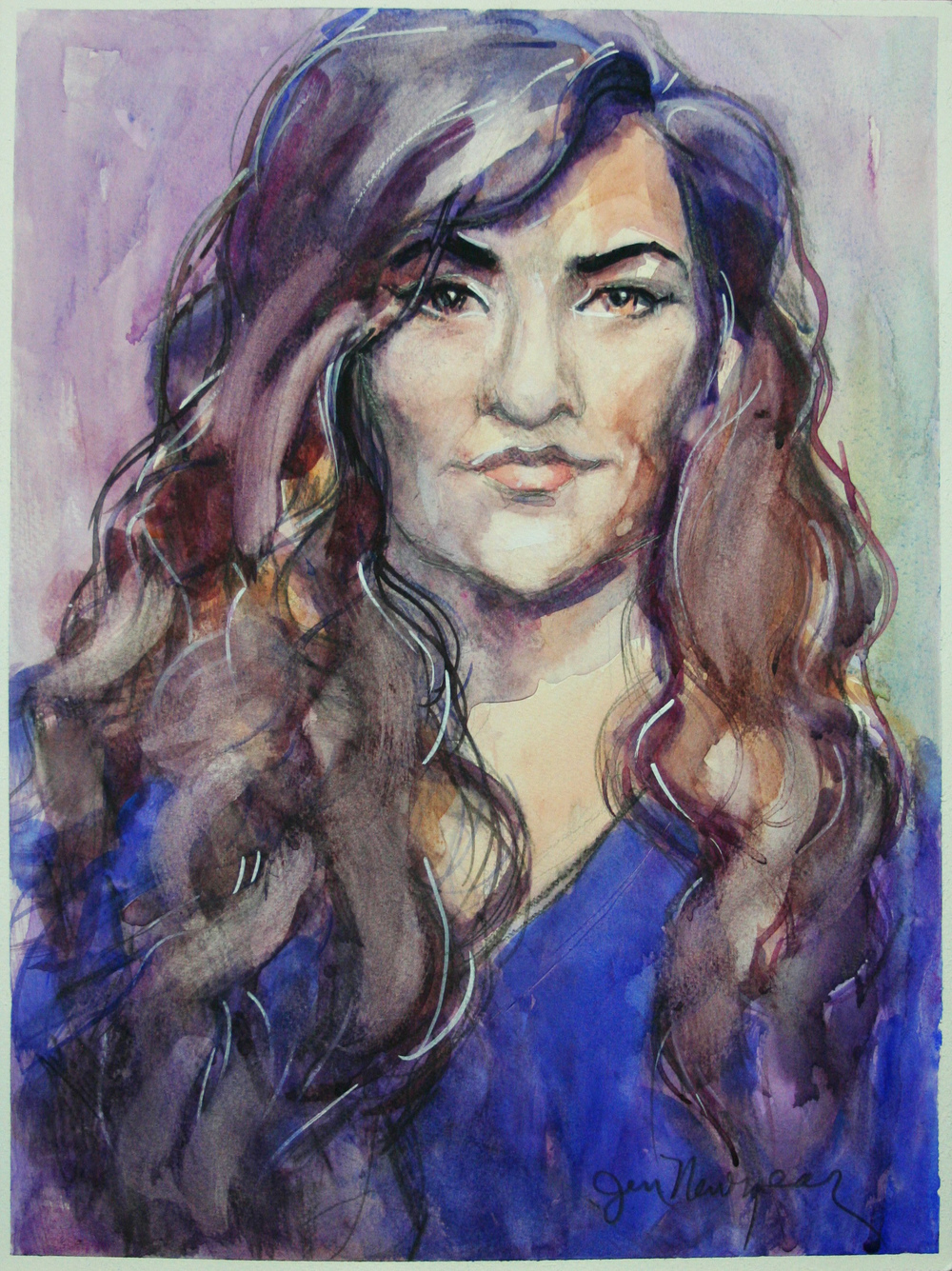 Jennifer Newyear did this 3-hour watercolor.