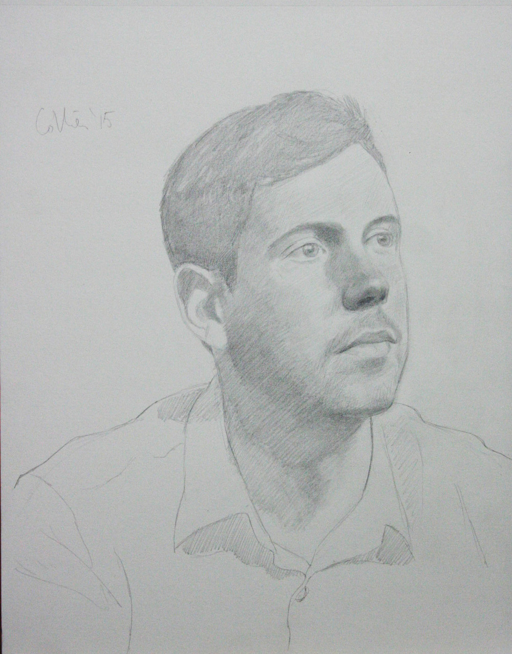 Howard Collier did this 3-hour drawing of Eric Gearhart.