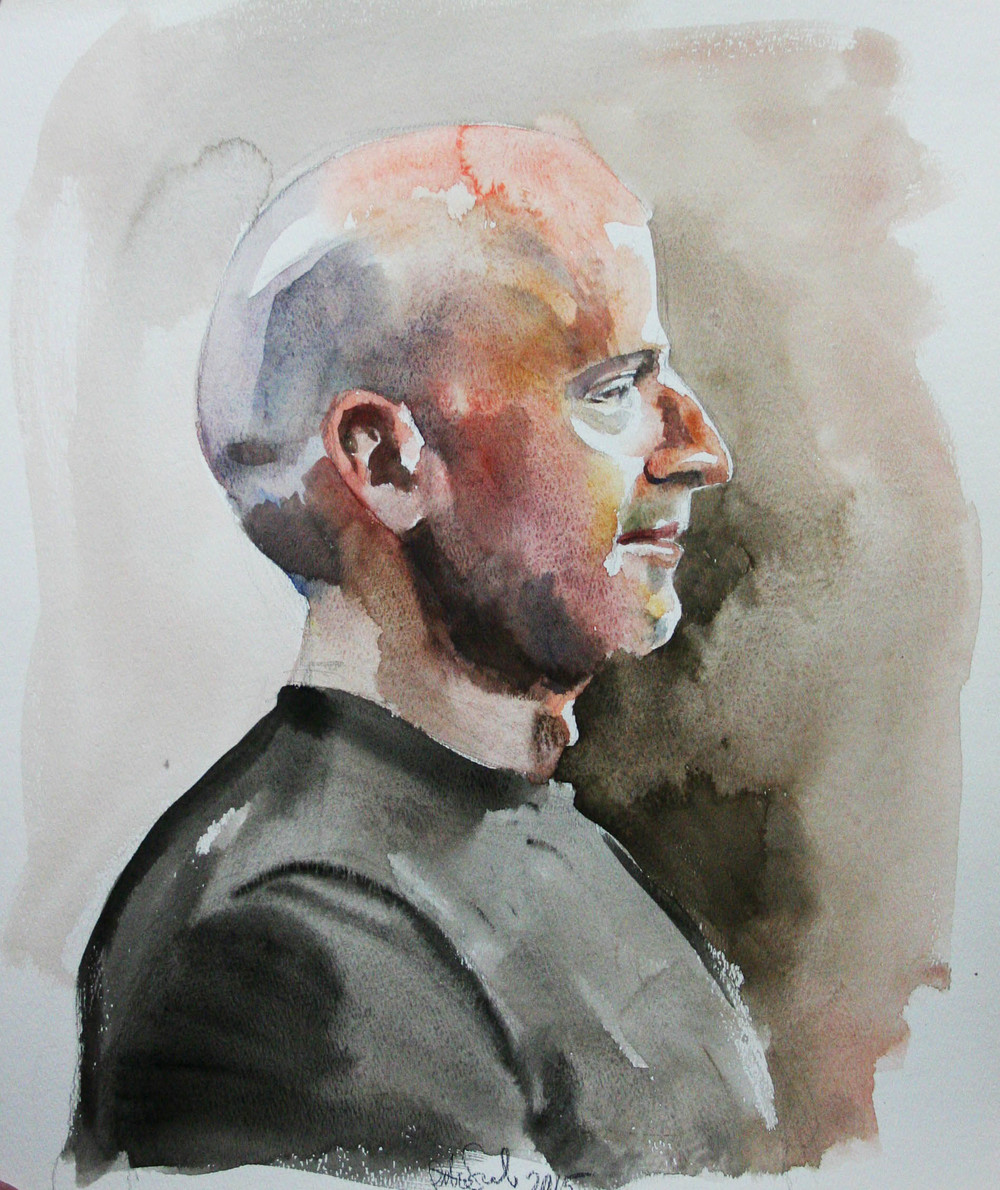 Peter Seward did this half hour watercolor.