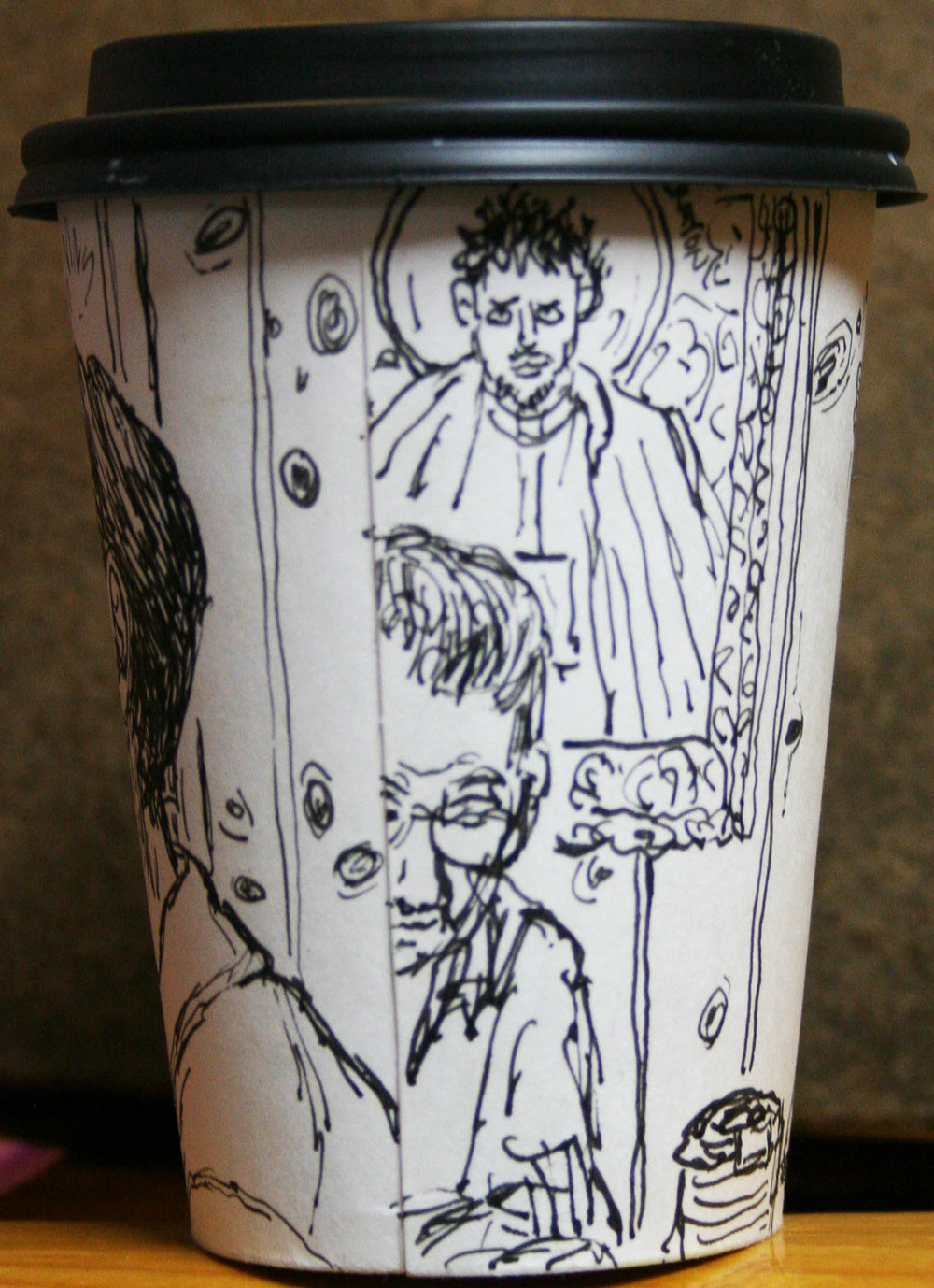 Jack Flotte's cup o' Tom (back view w/ Pat Phillips).