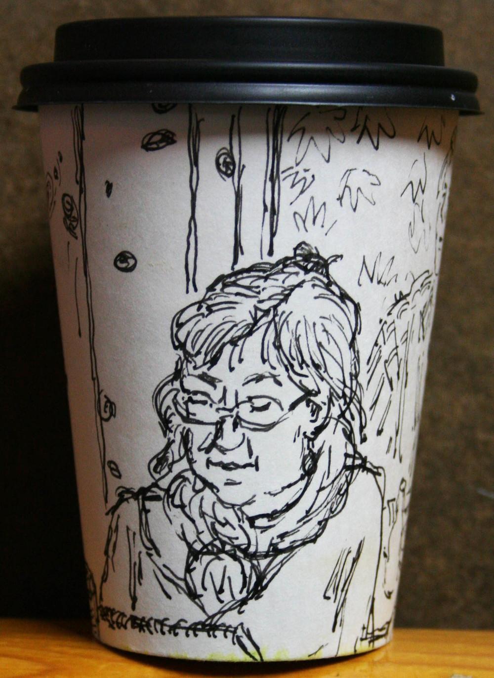 Jack Flotte's cup o Tom (side view w/Nancy Lick).