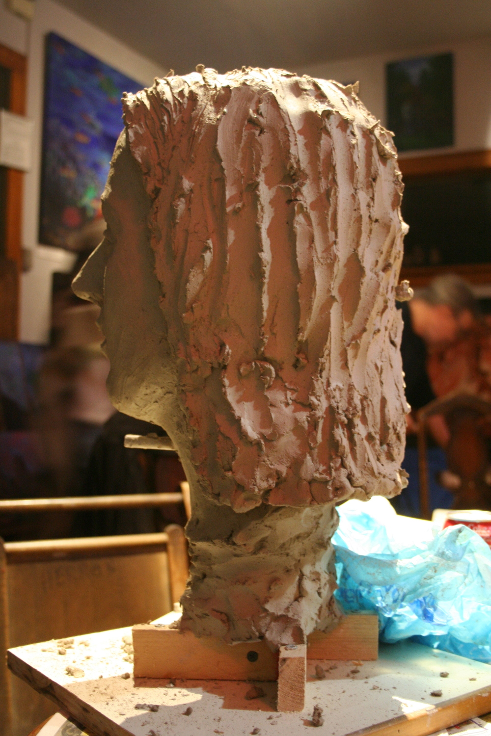 Rear view of Jack Flotte's bust of Samantha.