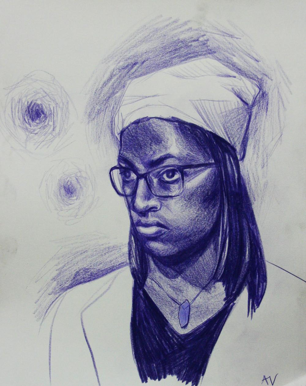 Amelia Visnauskas did this hour drawing.