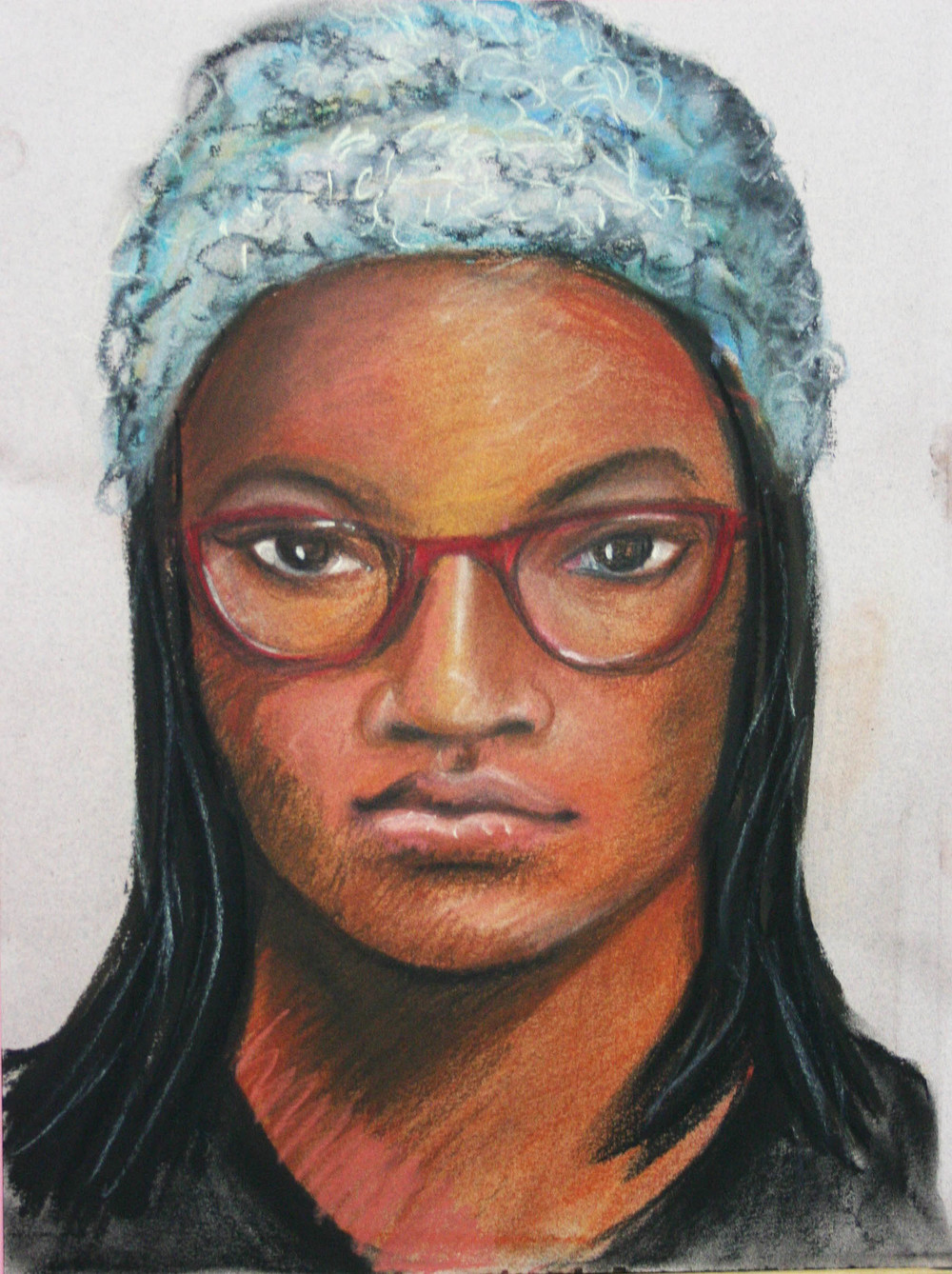 Casandra Dracup did this 2-hour pastel drawing.
