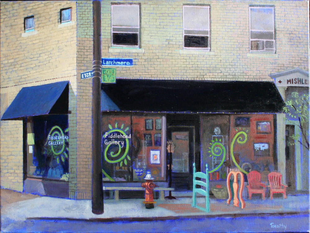 Fiddlehead gallery painted on location.
