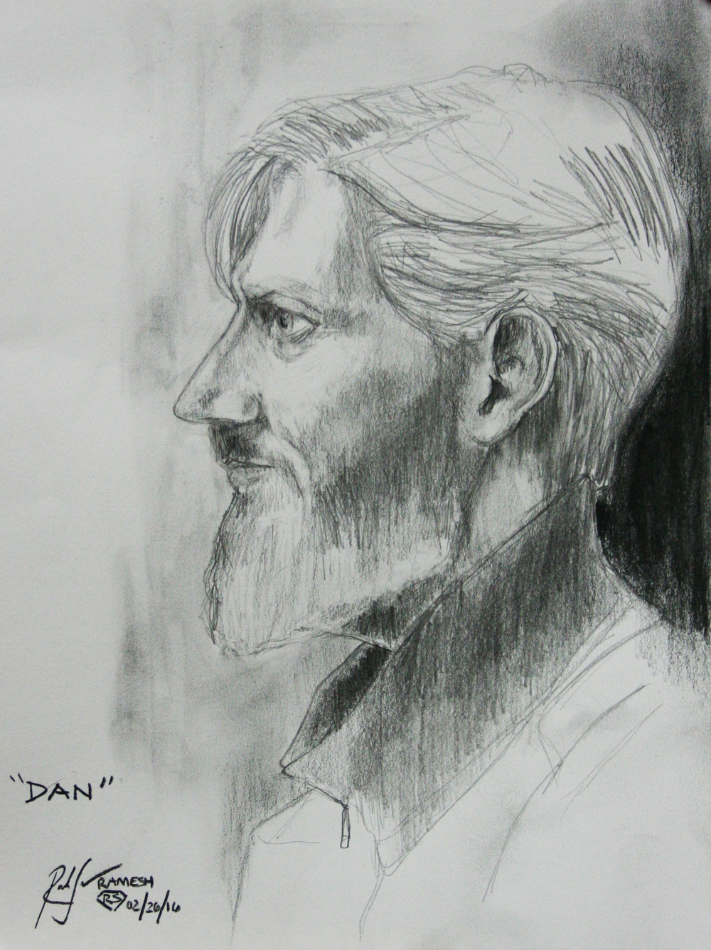 Ramesh Subramanium did this 2-hour drawing.