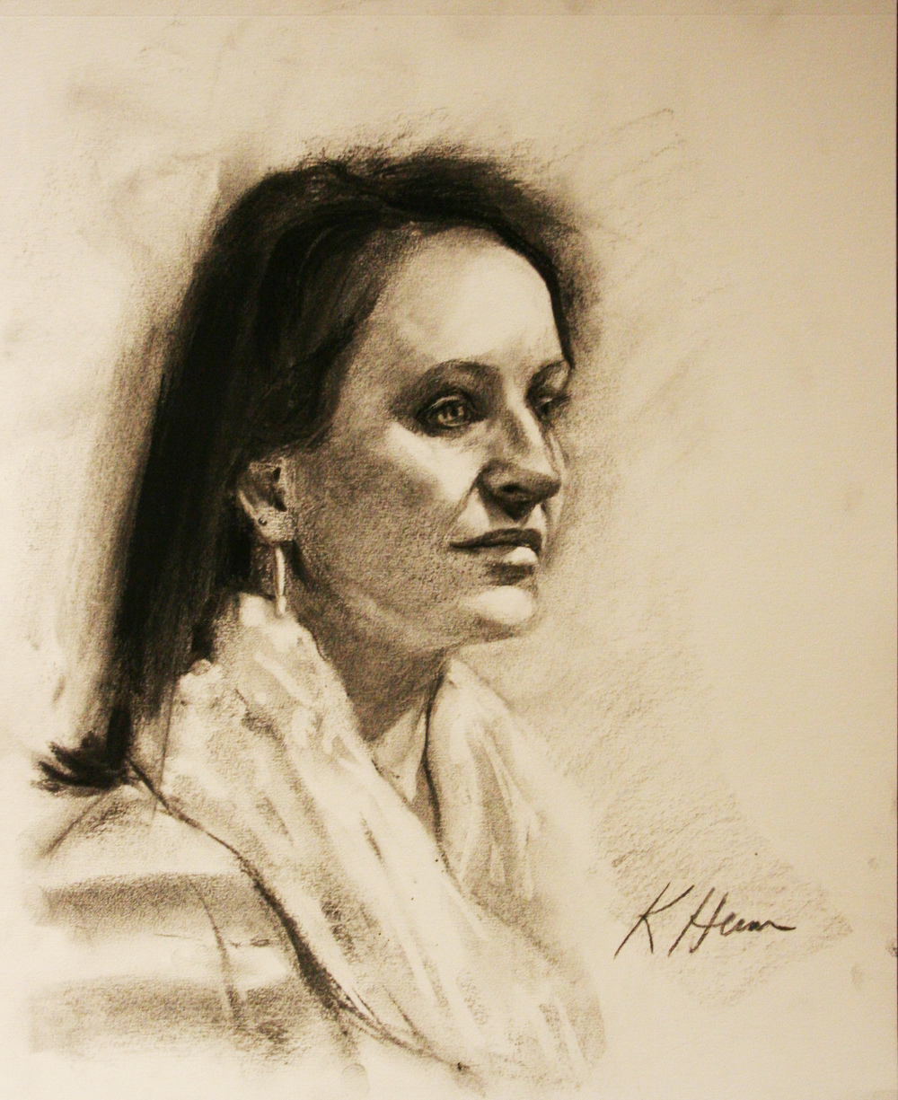 Kathryn Heim did this 3-hour drawing.