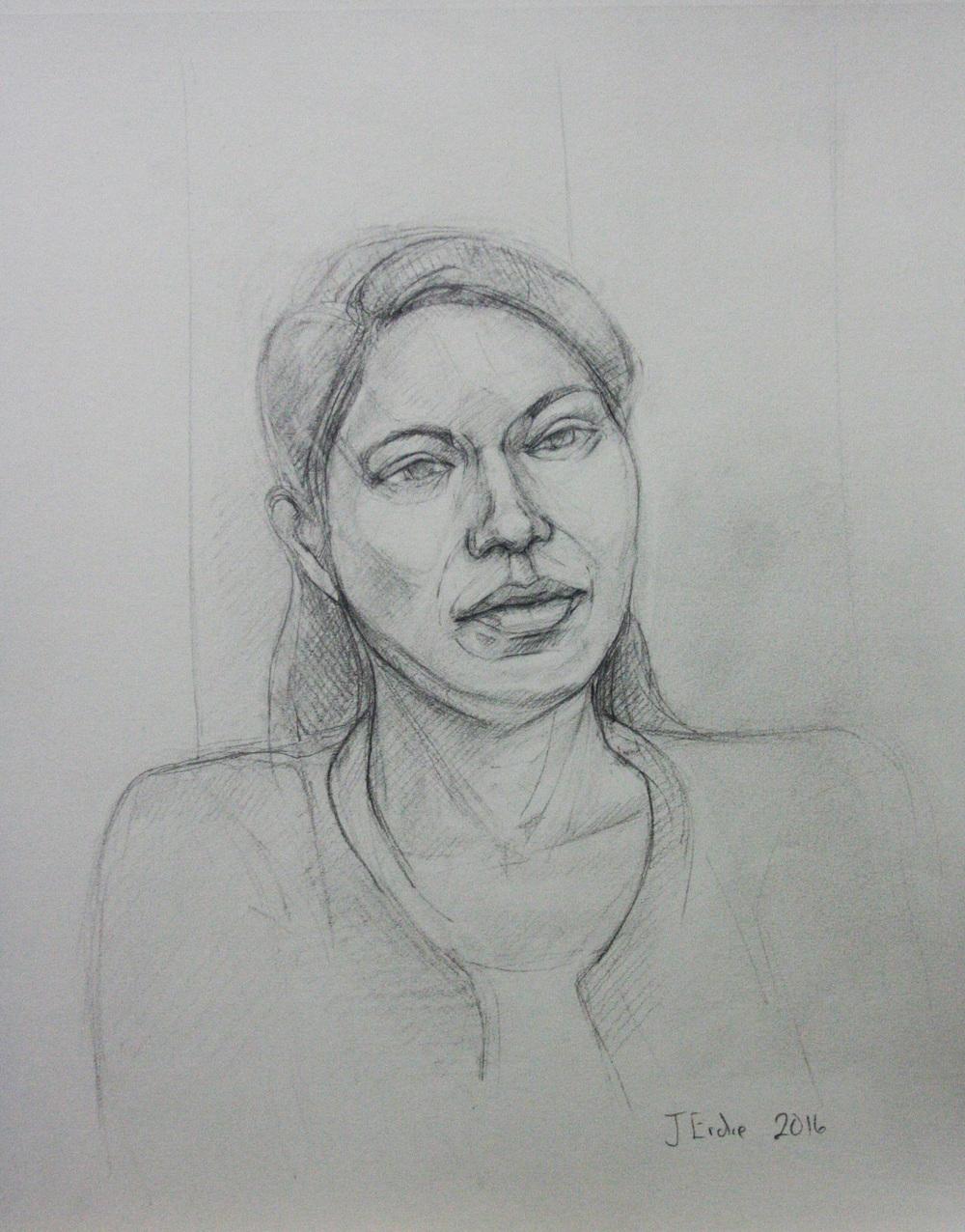 Jeff Erdie did this 3-hour pencil drawing.