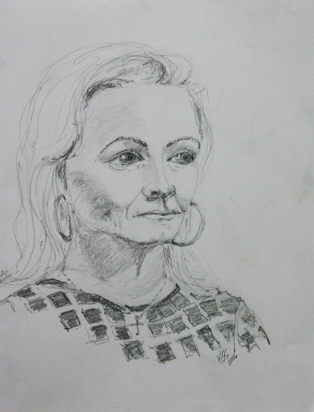 Katherine Stokes-Shafer did this 45-minute drawing.