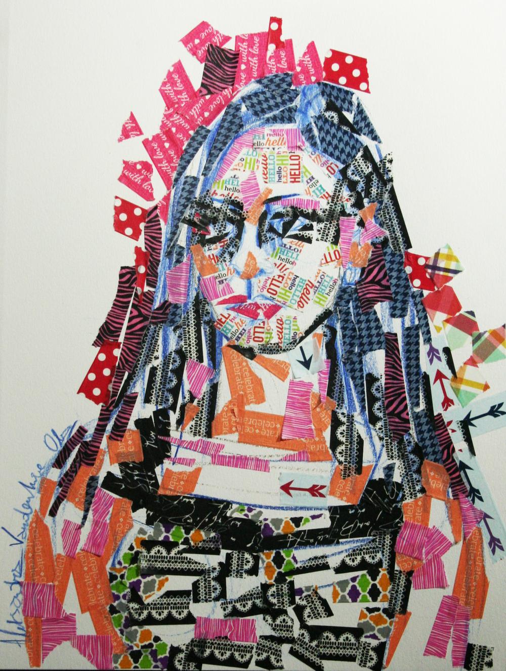 Aleksandra Vandenhove did this hour and a half sticker portrait.