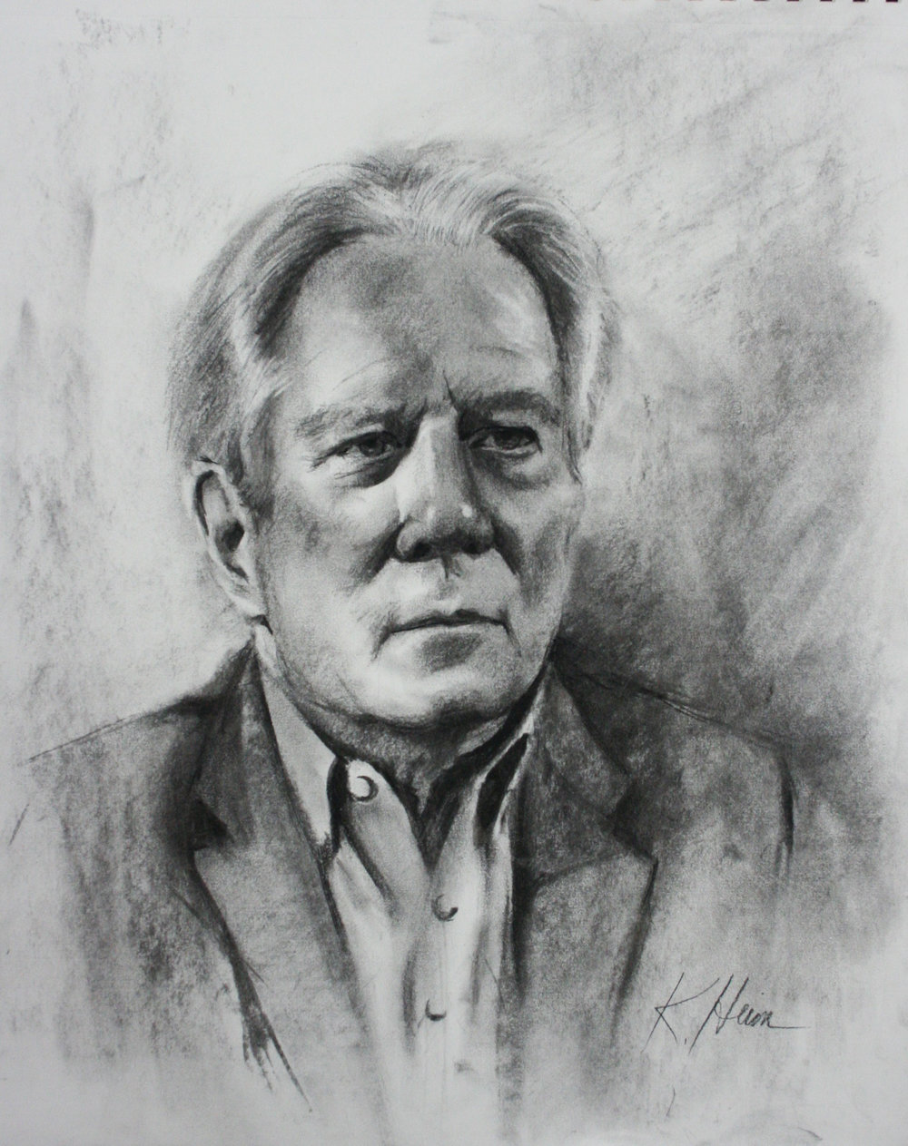 Kathryn Heim did this 3-hour charcoal drawing.
