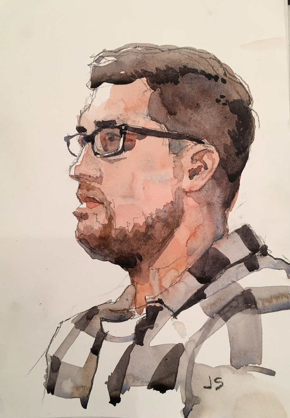 Jeff Suntala did this hour and a half watercolor.