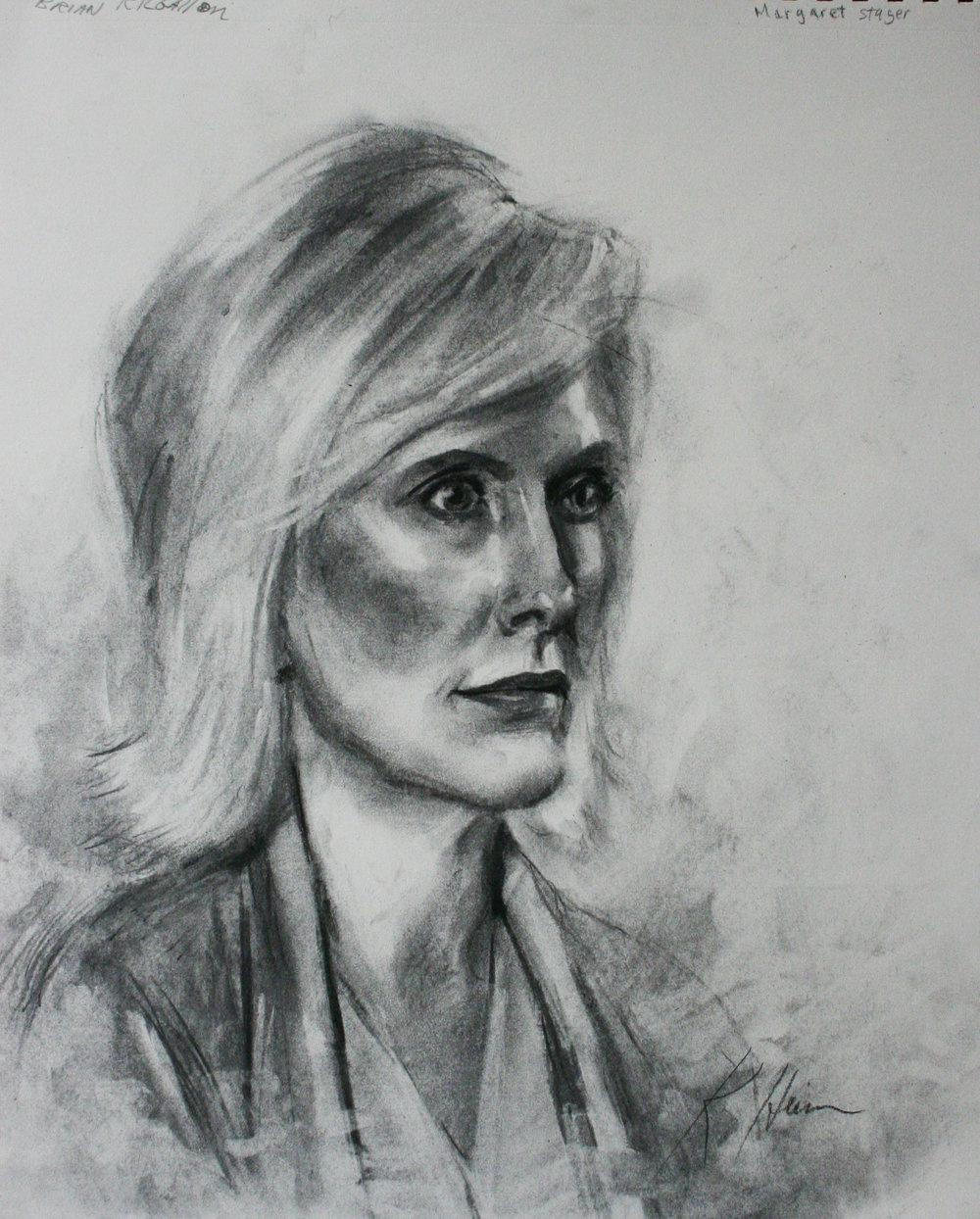 Kathryn Heim did this 2-hour charcoal drawing.