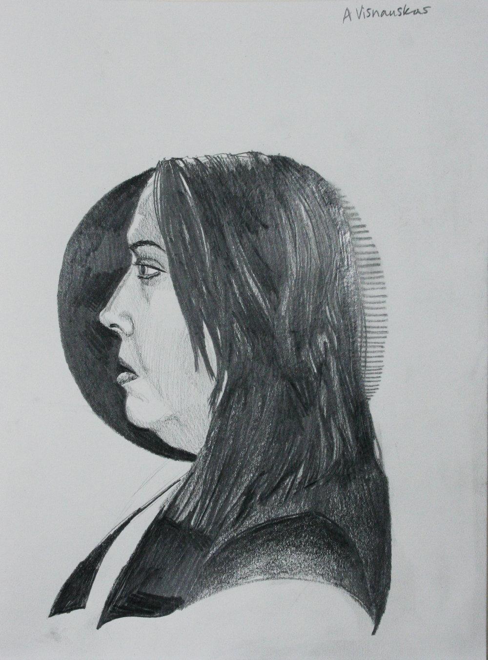 Amelia Visnauskas did this two hour drawing.