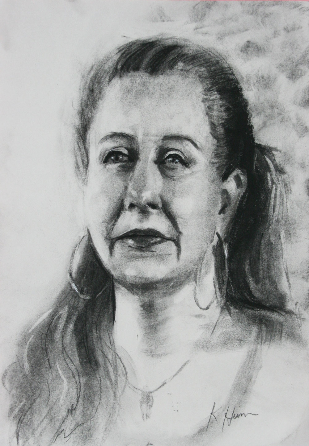 Kathryn Heim did this 2-hour drawing.