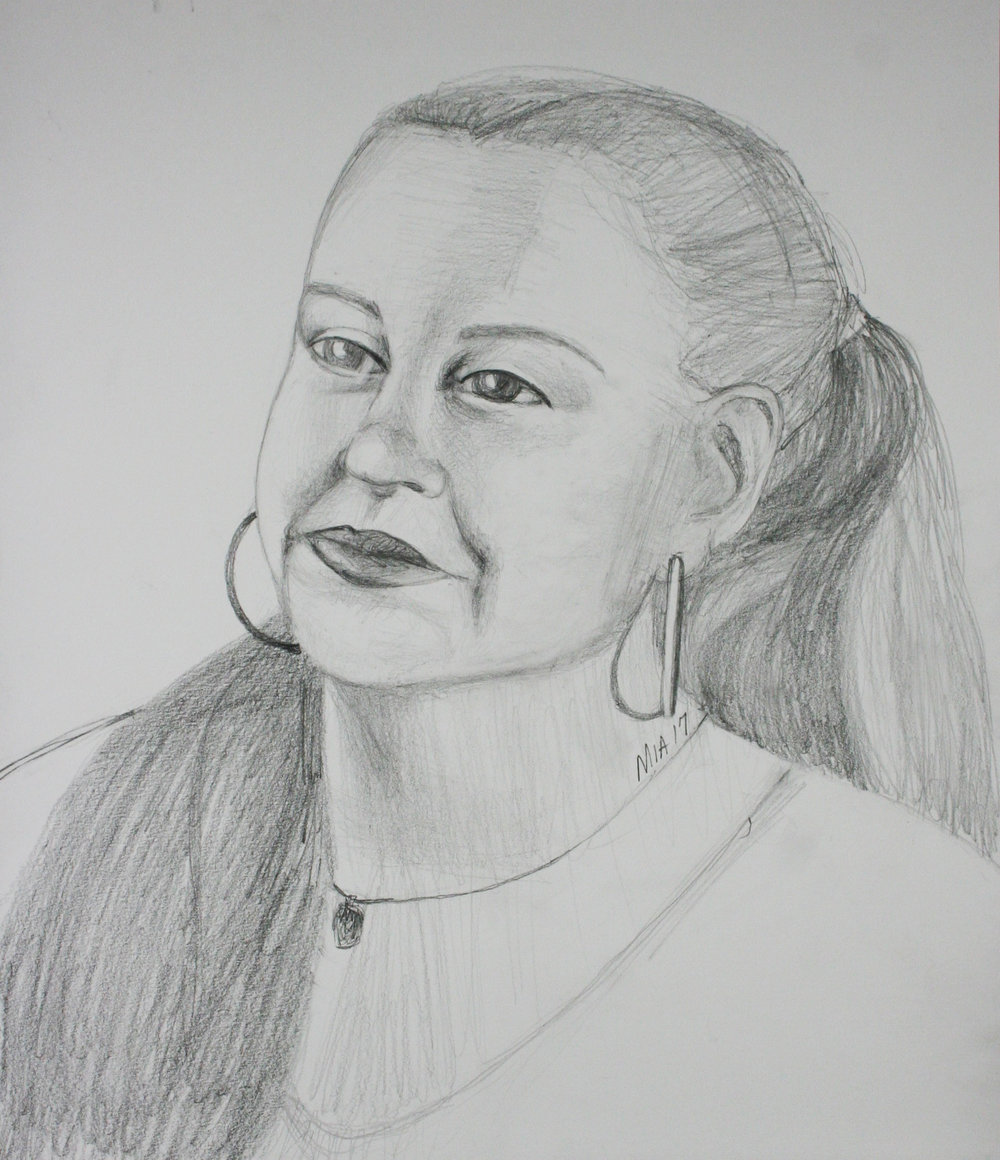 Maria Polk did this 3 hour drawing.