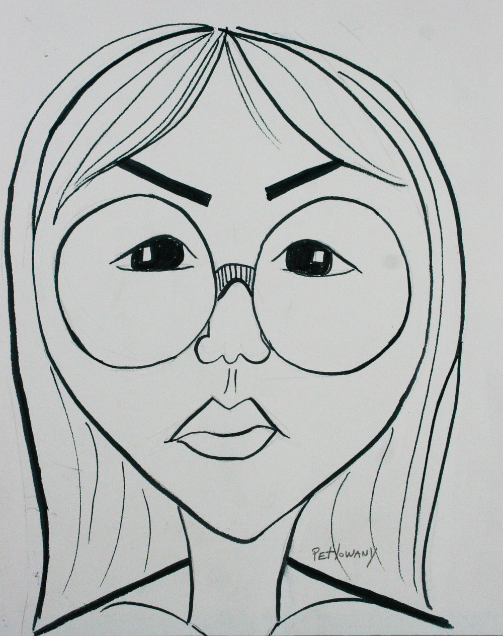 Paula Petlowany did this quick caricature