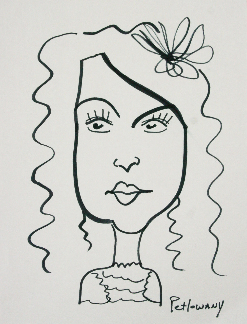 Paula Petlowany did this quick caricature drawing.