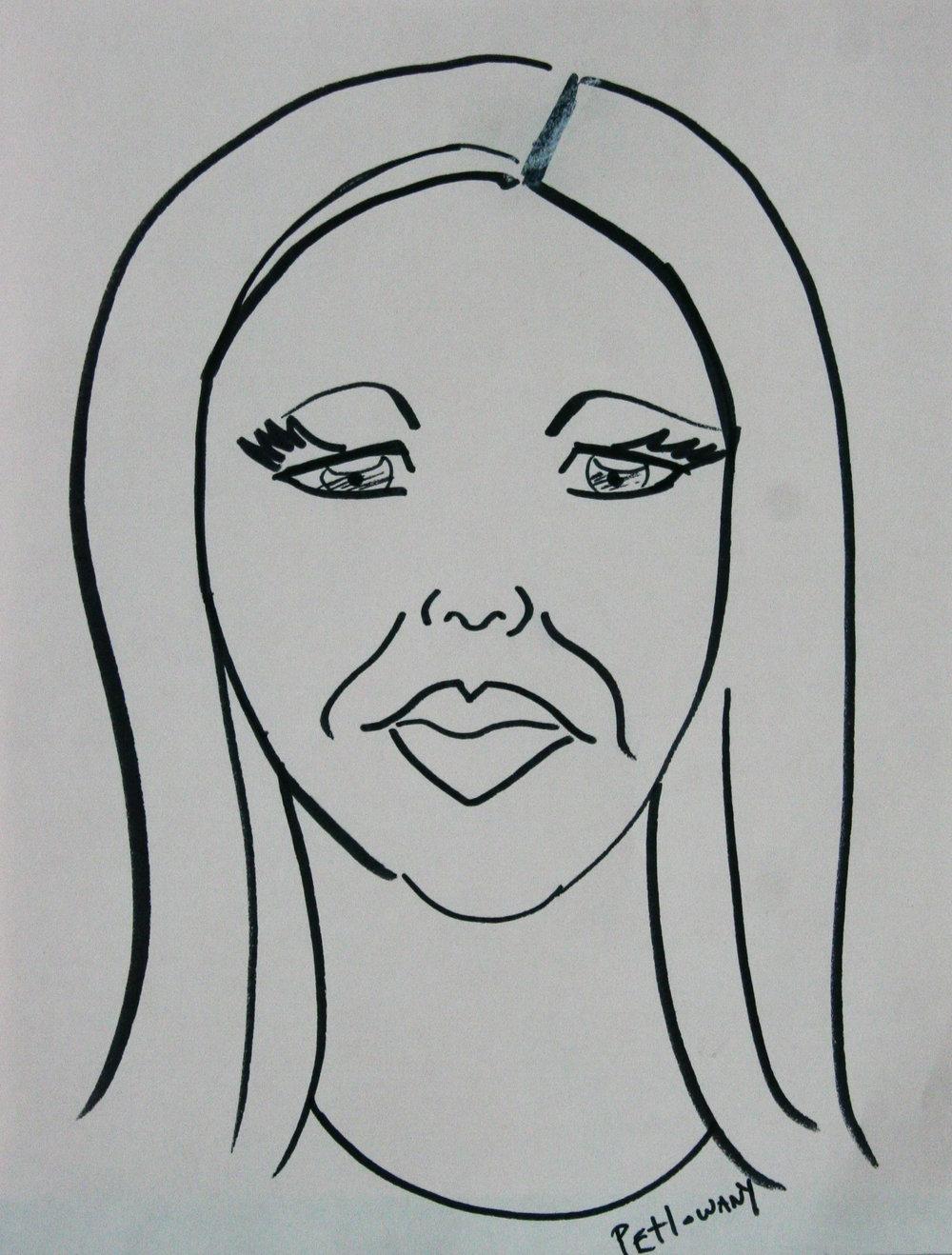Paula Petlowany did this caricature drawing.