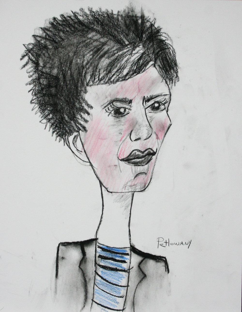 Paula Petlowany did this caricature.
