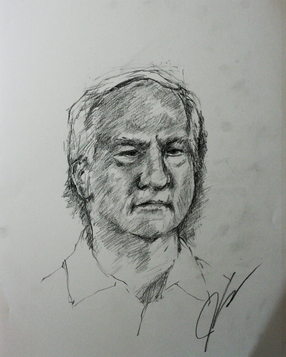 John Hauser did this 45 minute drawing.