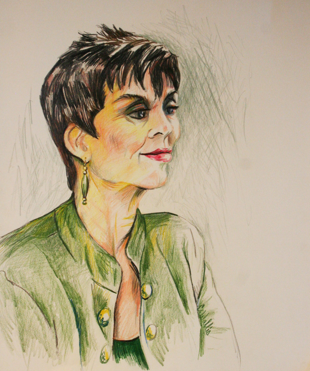 Christine Wallis did this colored pencil drawing.