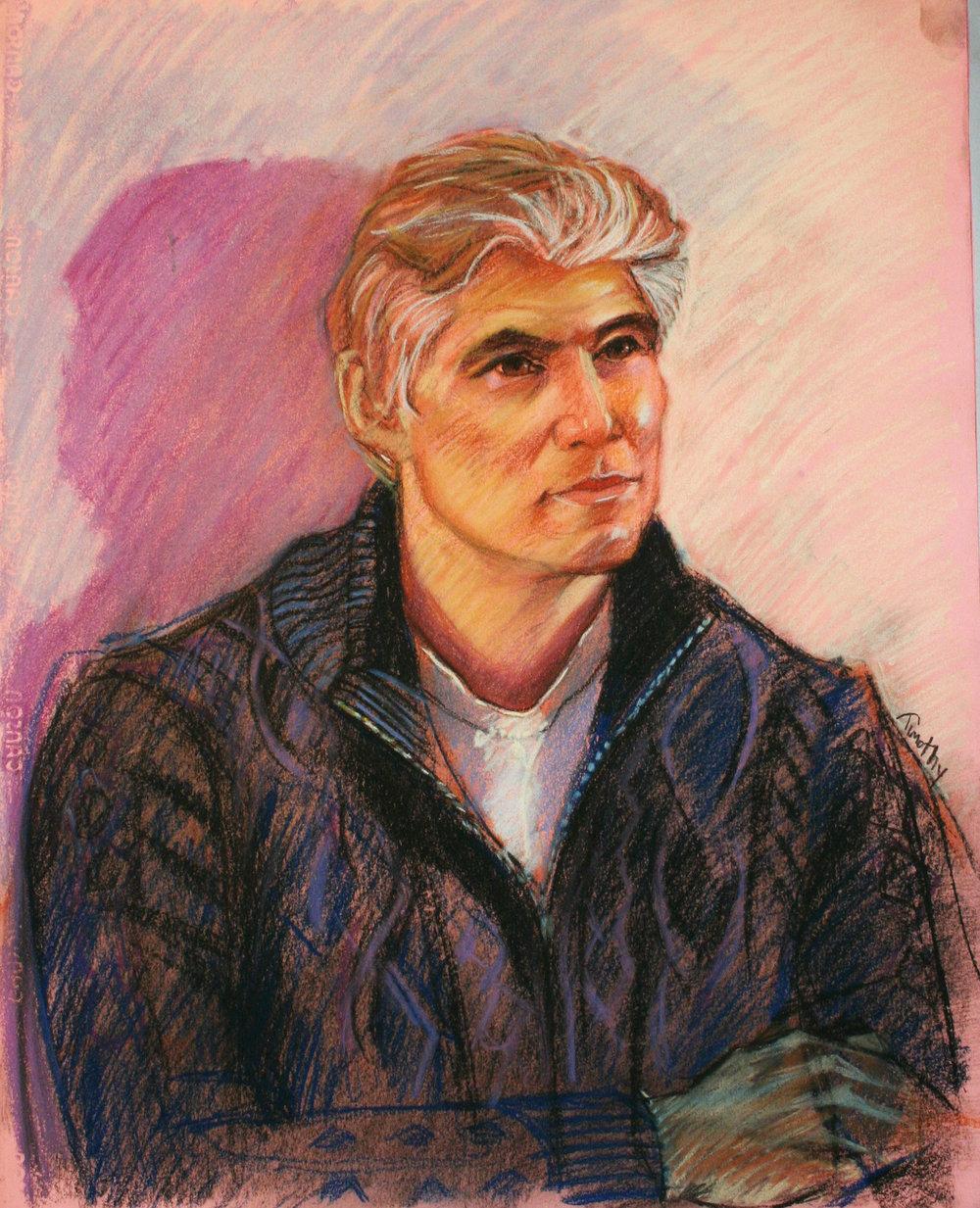 Timothy Herron did this pastel drawing.