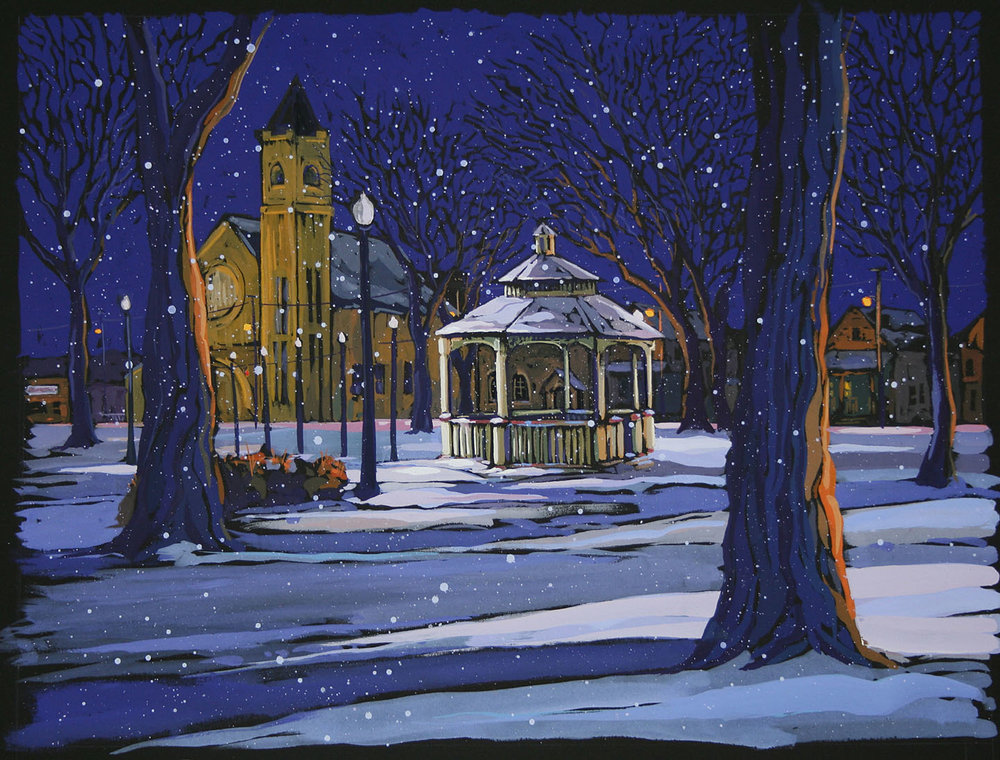 """Winter Evening, Lincoln Park"""
