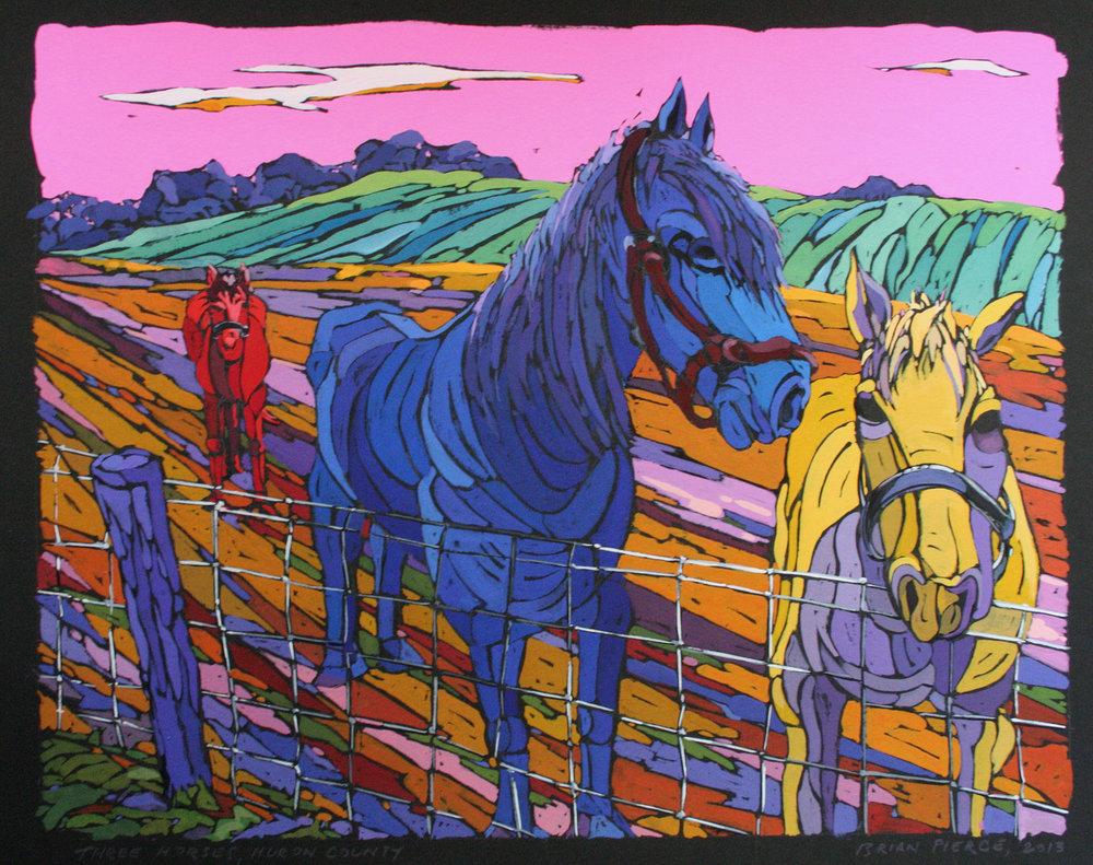 """Three Horses, Huron County"""