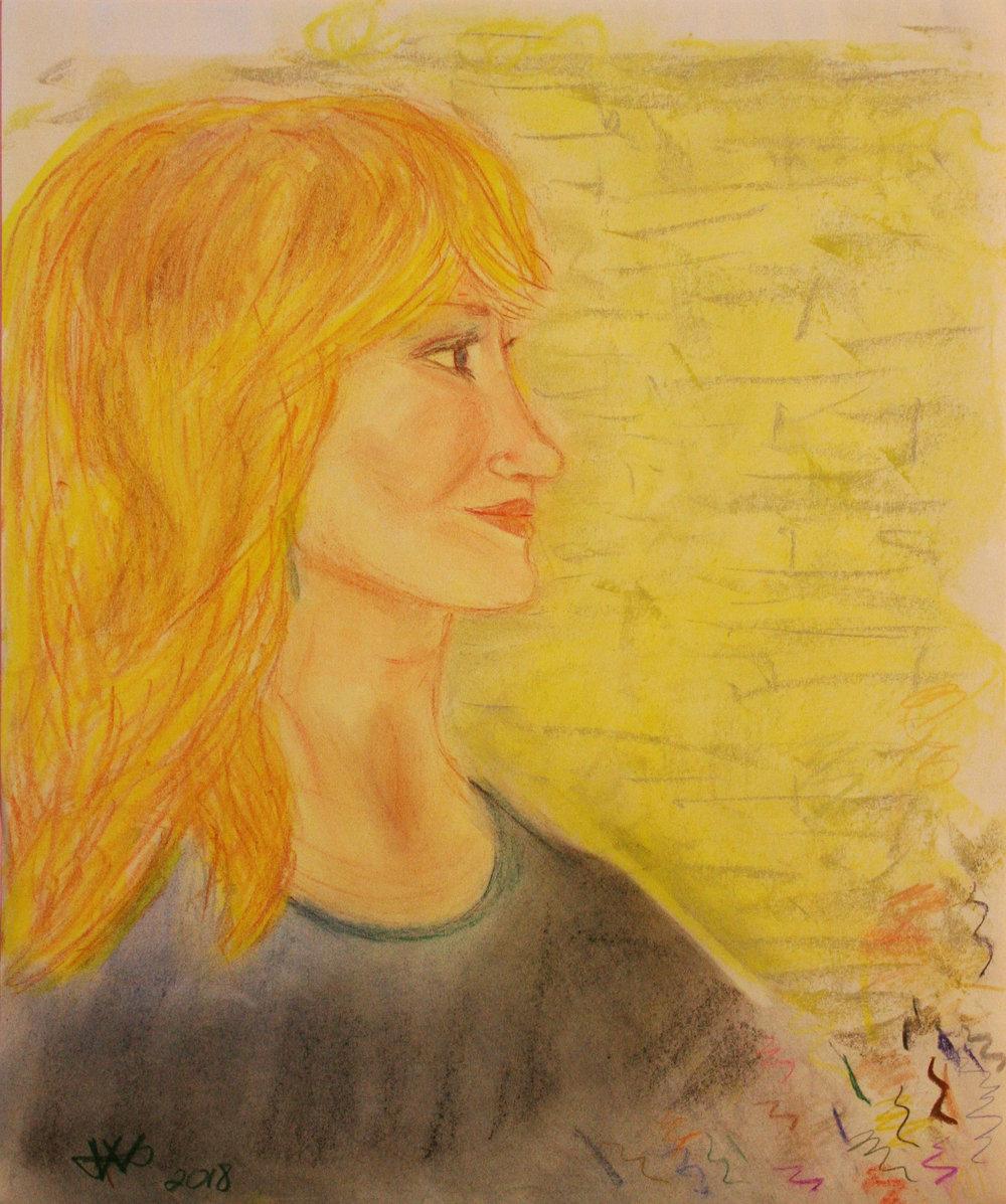 Vickie Verlie did this pastel drawing.