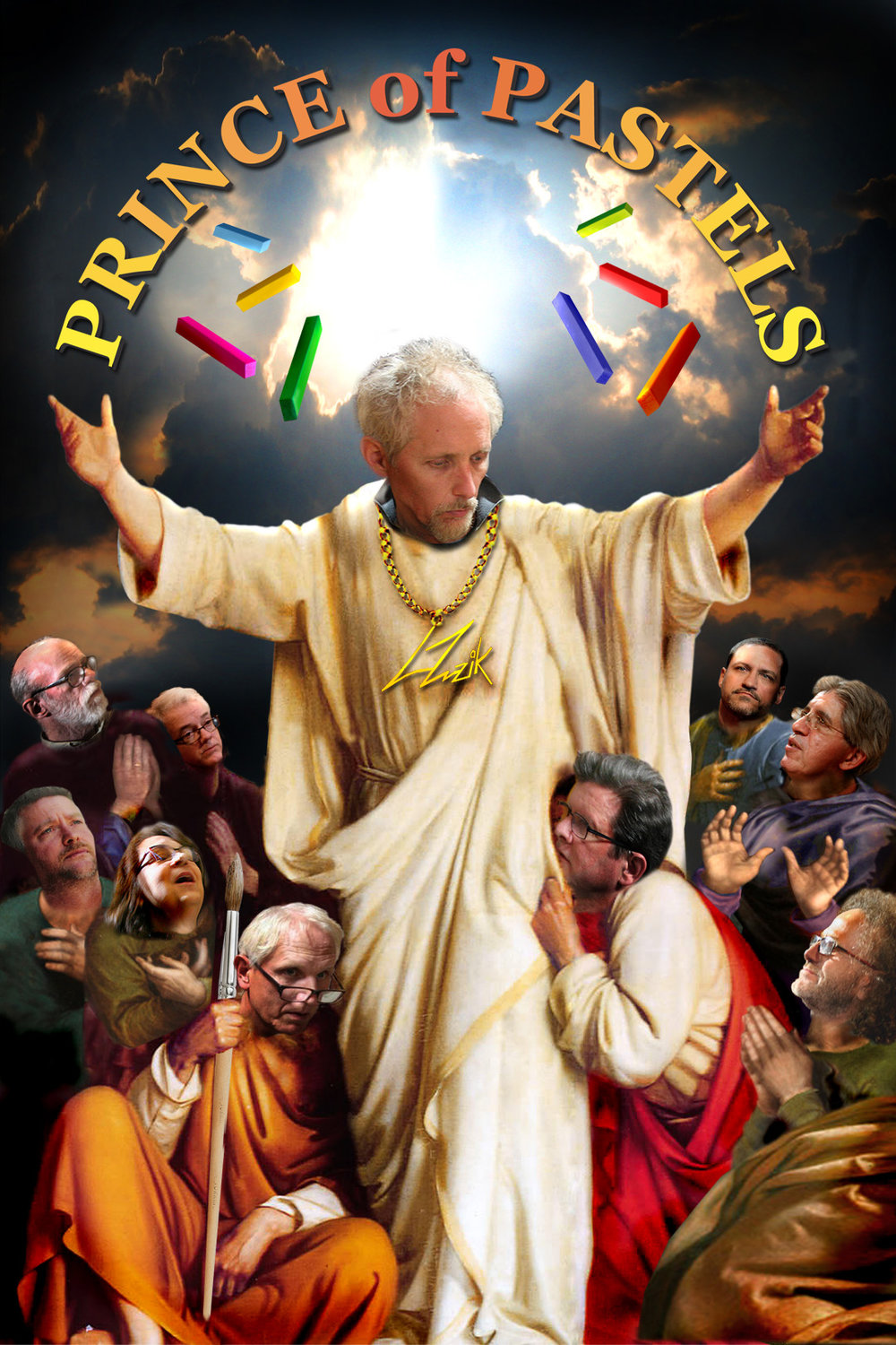 Larry Zuzik - The Prince of Pastels. Photoshop courtesy of Brian Pierce.