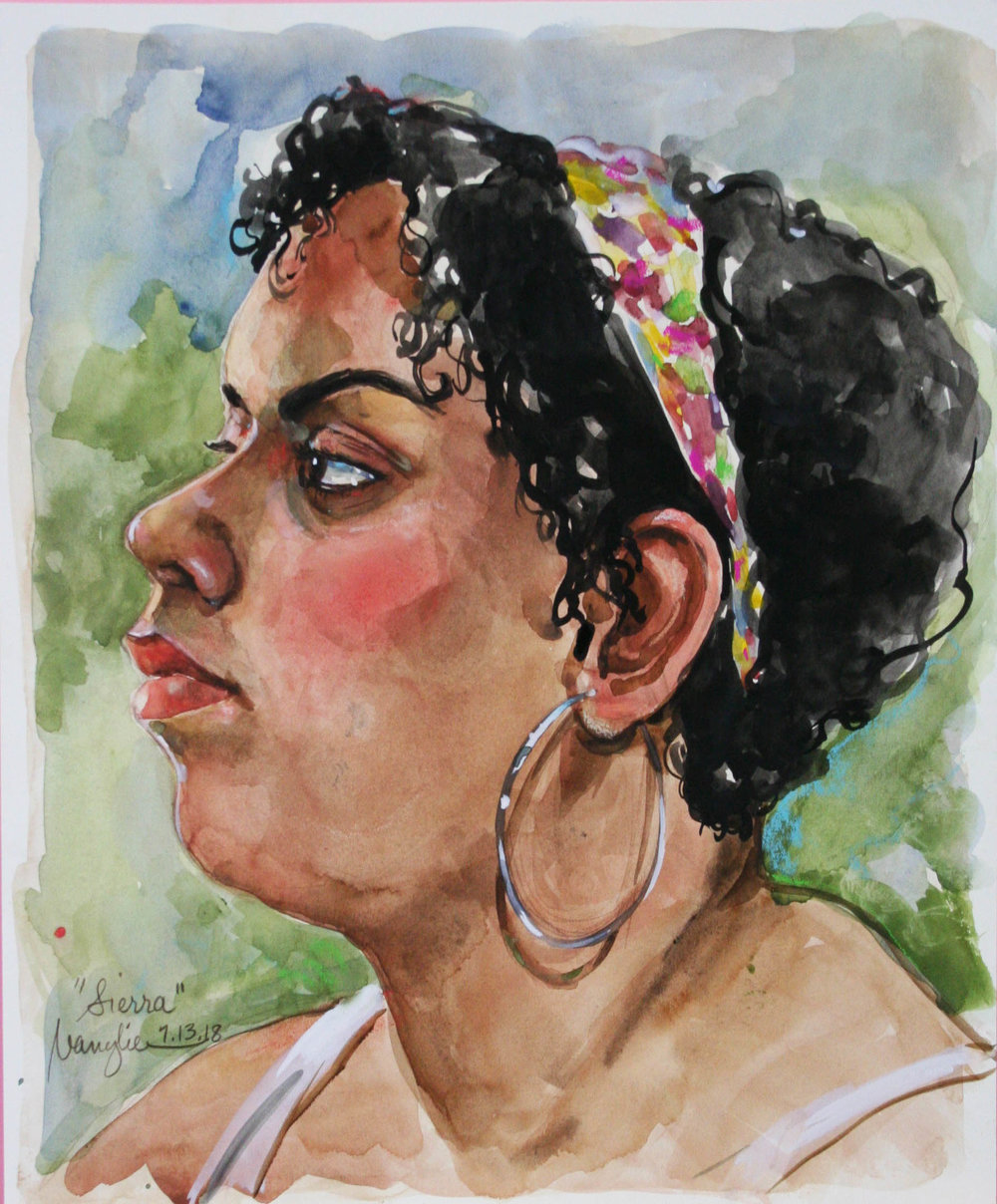 Nancy Lick did this watercolor drawing.