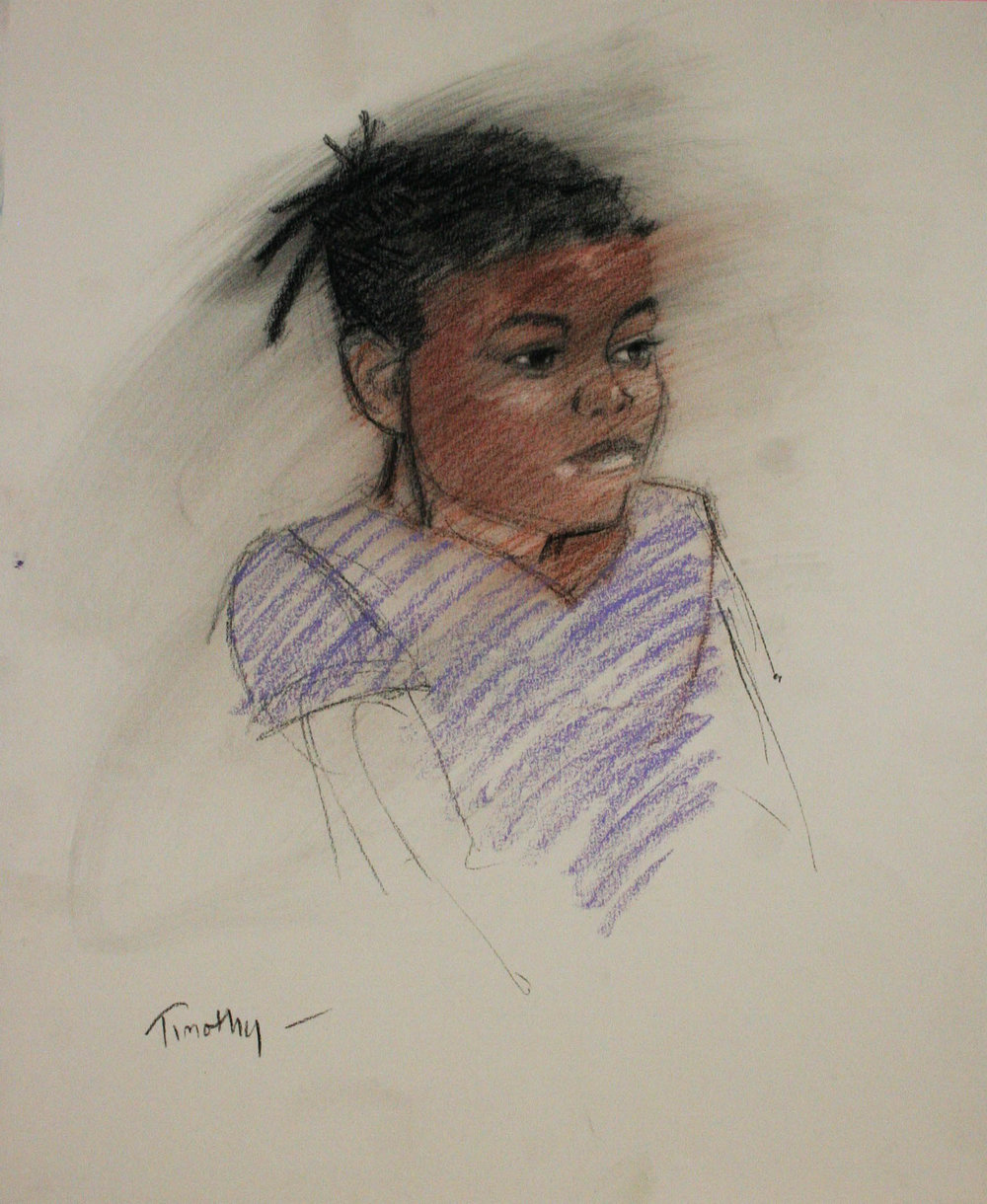 Timothy Herron did this sketch of Zora.