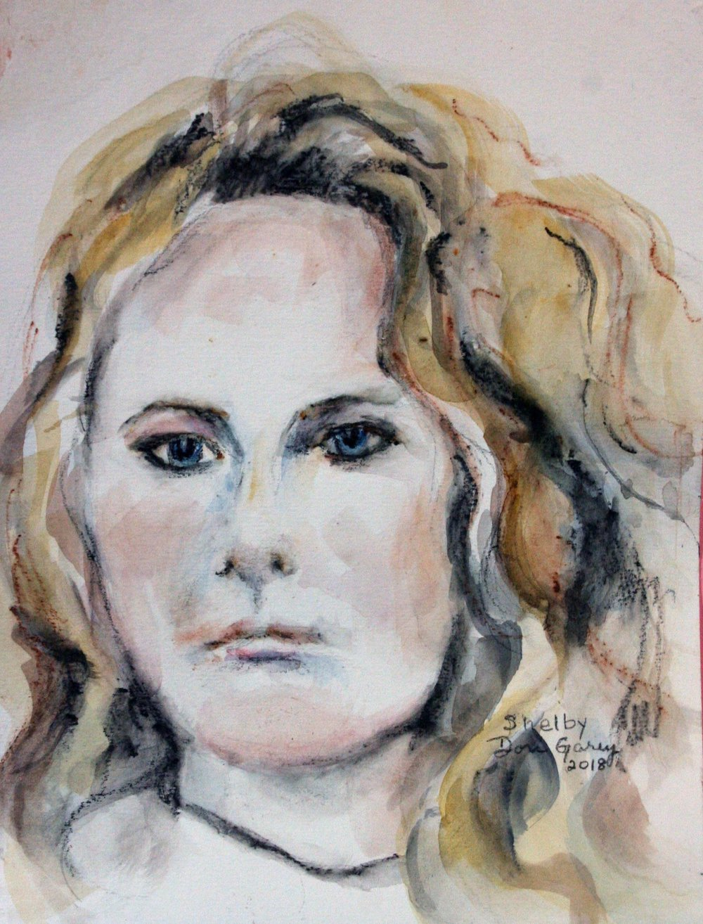 Dori Garey did this watercolor.