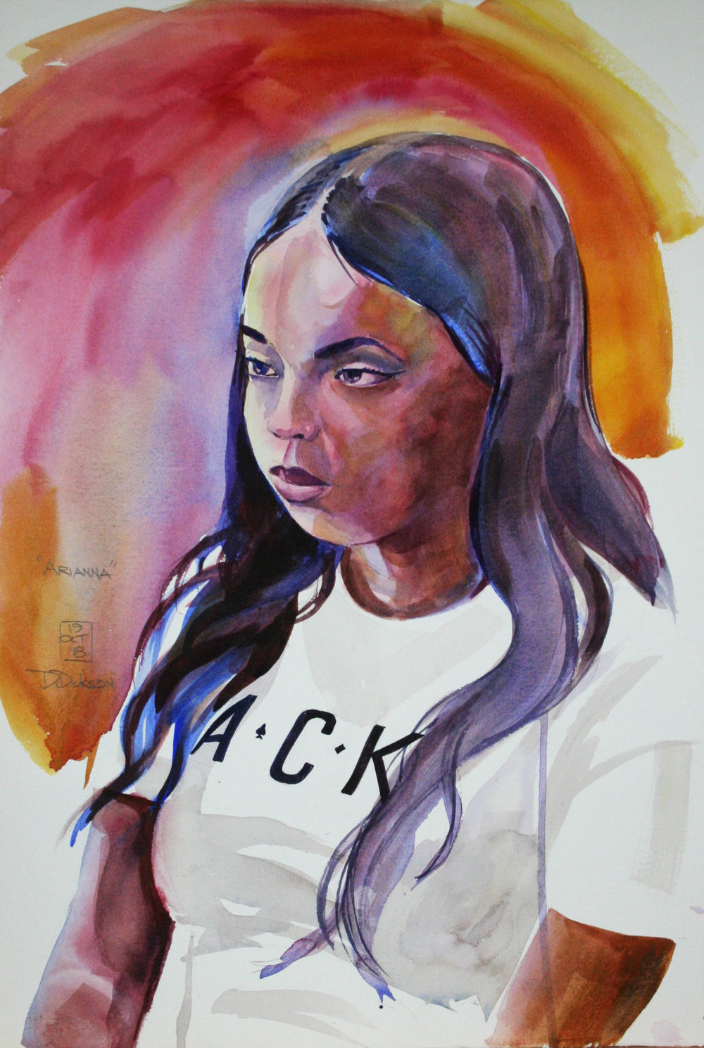 Duane Dickson did this watercolor.