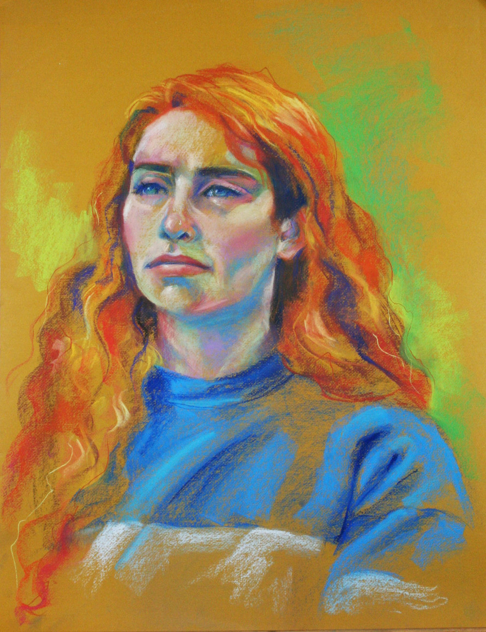 Sarah Curry did this pastel drawing.